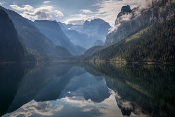 Beautiful lake in Alps