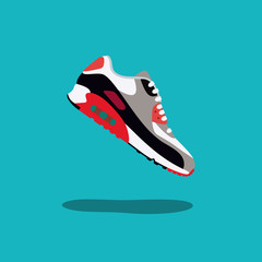 Original sneakers vector illustration