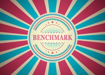 Benchmark Retro Vintage Style Stamp Background
