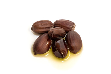 Jojoba oil on seeds of the same plant