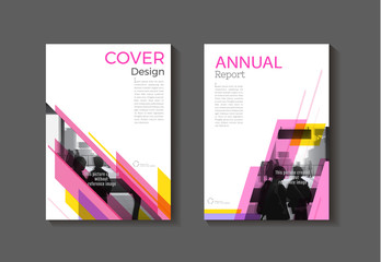 pink yellow abstract cover modern  cover book Brochure template, design, annual report, magazine and flyer layout Vector a4