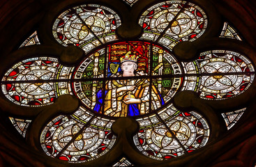 Queen Victoria Stained Glass Chapter House Westminster Abbey London England