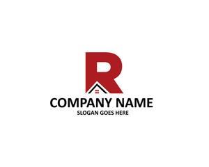 r letter house logo