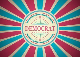 Democrat Retro Vintage Style Stamp Background