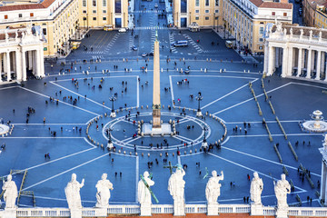 Saint Peter's Square Statues Roof Saint Vatican Rome Italy
