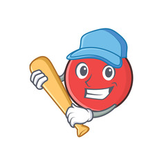 bowling ball character cartoon playing baseball