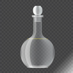 transparent pitcher with realistic side view transparent background vector illustration