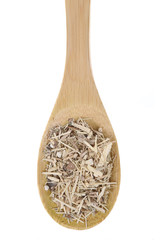 Syberian Ginseng on bamboo spoon