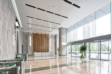 interior of modern entrance hall Fotomurales