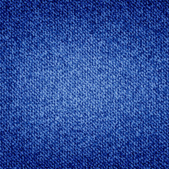 Blue denim texture background. Jeans pattern. Dark blue jeans cloth. Vector.