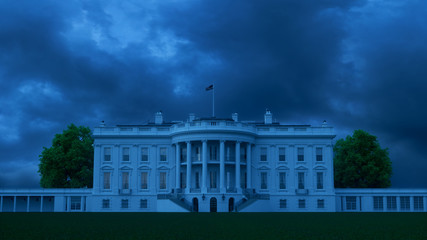 Fototapete - White House Dark Future 2