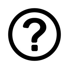 question mark, outline,isolated vector