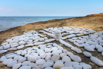 Cross from the pebbles
