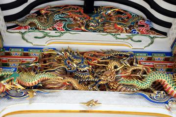 龍の神社飾り