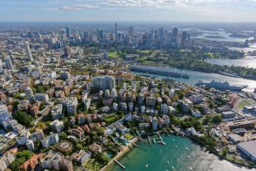 Elizabeth Bay looking west towards Sydney CBD