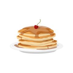 Breakfast pancakes plate.