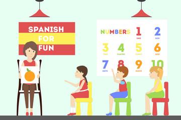 Spanish language course.