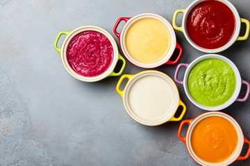 Vegetable cream soups