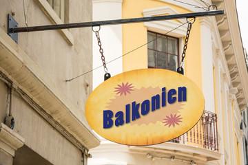 Schild 278 - Balkonien