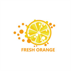 Fresh Orange Logo Template Design