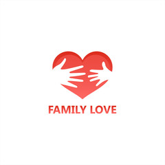 Family Love Logo Template Design