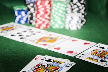 Poker pair of kings