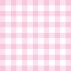 Seamless vector pink background - checkered tile pattern or grid texture