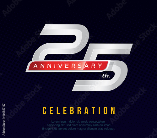 25 years anniversary invitation card celebration template design 25 years anniversary invitation card celebration template design 25th anniversary logo dark stopboris Images