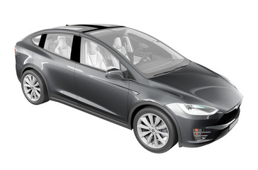 Modern Electric Car isolated hi detail rendering