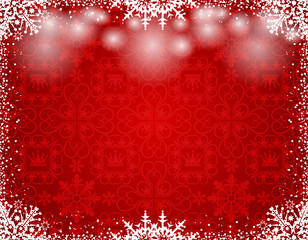 Christmas background, red color, vector