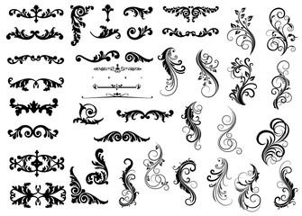 Dekorelemente für Urkunden und Grußkarten