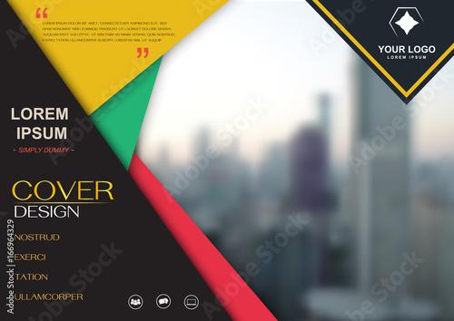 brochure flyer design template vector cover presentation abstract