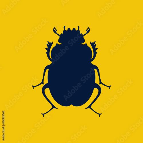 vector scarab beetle egyptian symbol lady bug logo template