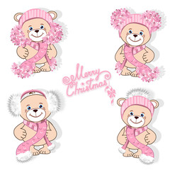 Teddy bear in hat set
