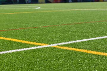 pattern of fresh green grass for football sport, soccer field