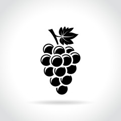 grapes icon on white background