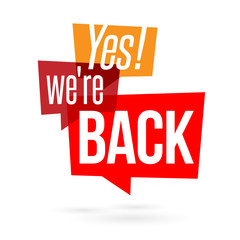 Yes we're back !