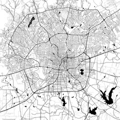 San Antonio Monochrome Vector Map
