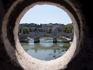 view from Castel Sant'Angelo in Rome