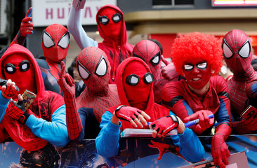 "Fans wait for the arrival of Holland and director Watts during the Japan premiere of ""Spider-Man: Homecoming"" in Tokyo"
