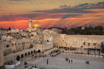 The Western Wall at the Temple Mount in Jerusalem, Israel