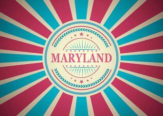 Maryland Retro Vintage Style Stamp Background