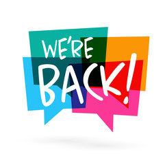 Image result for we are back