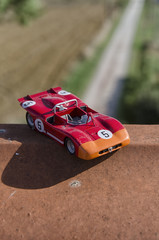 Model of a classic race car