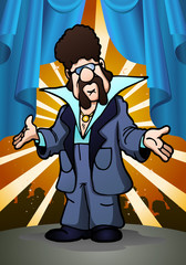 retro dancing man