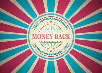 Money Back Retro Vintage Style Stamp Background