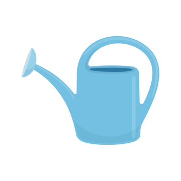 Garden watering can, colorful agricultural tool Vector