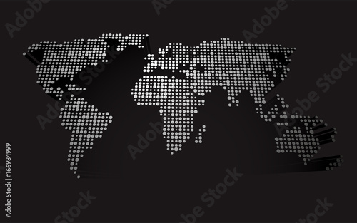 Abstract 3d world map made up of small white dots stock image and abstract 3d world map made up of small white dots gumiabroncs Choice Image