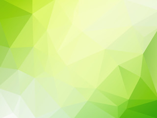 vector green triangles background