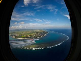 view over Ishigaki Island fromPlane